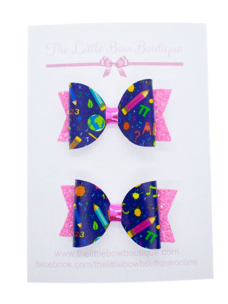 Too cute for school Set of 2 small bows