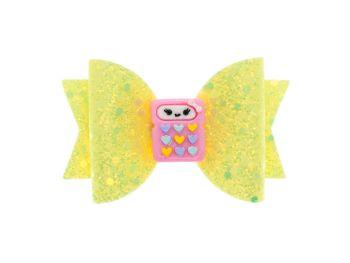 Cutie Calculator Yellow Glitter Bow