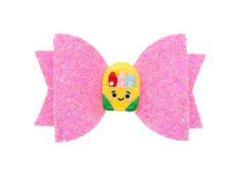 Cutie Backpack Pink Glitter Bow