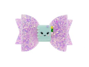 Cutie Notebook Pink Glitter Bow