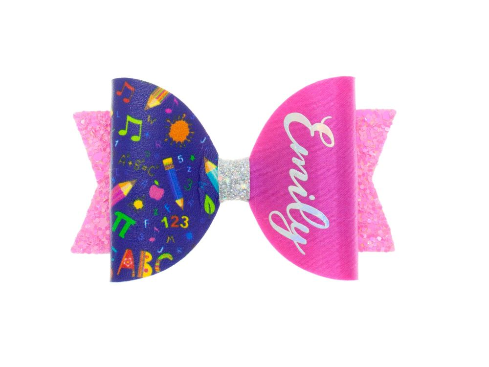 Too Cute for School Personalised Bow