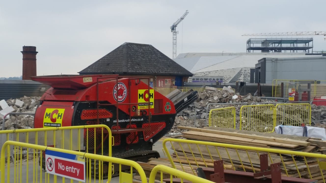Our Mini Crusher Working in Leicester