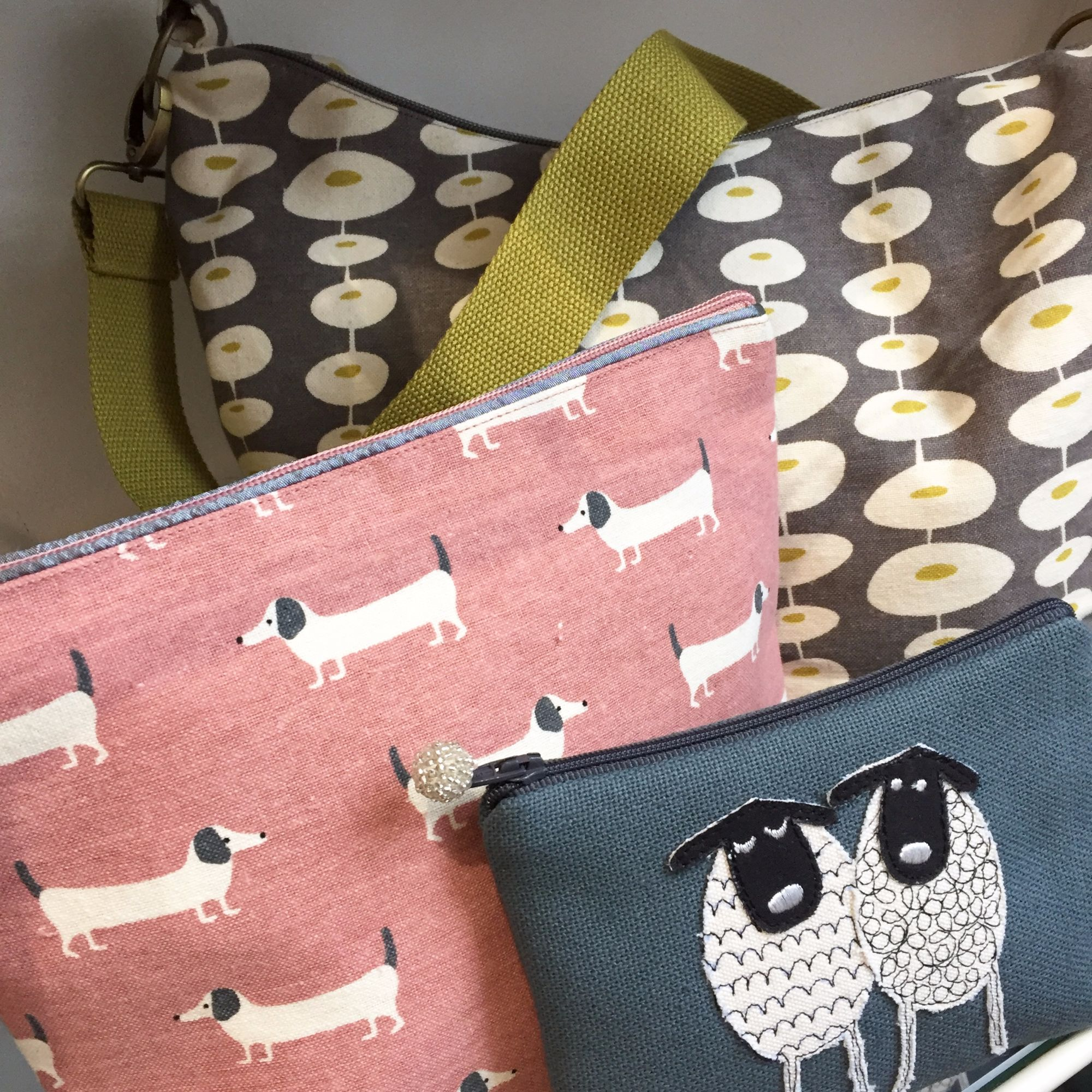 Lua's array of bags, washbags and purses