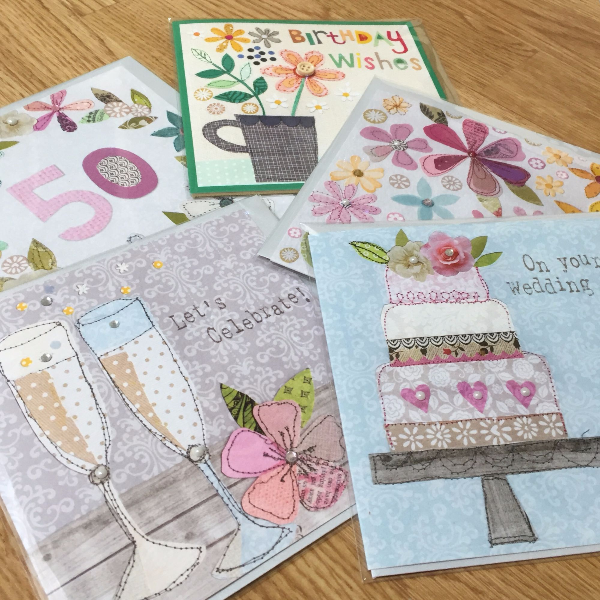 Georgia Breeze cards - designed and hand finished in Cornwall