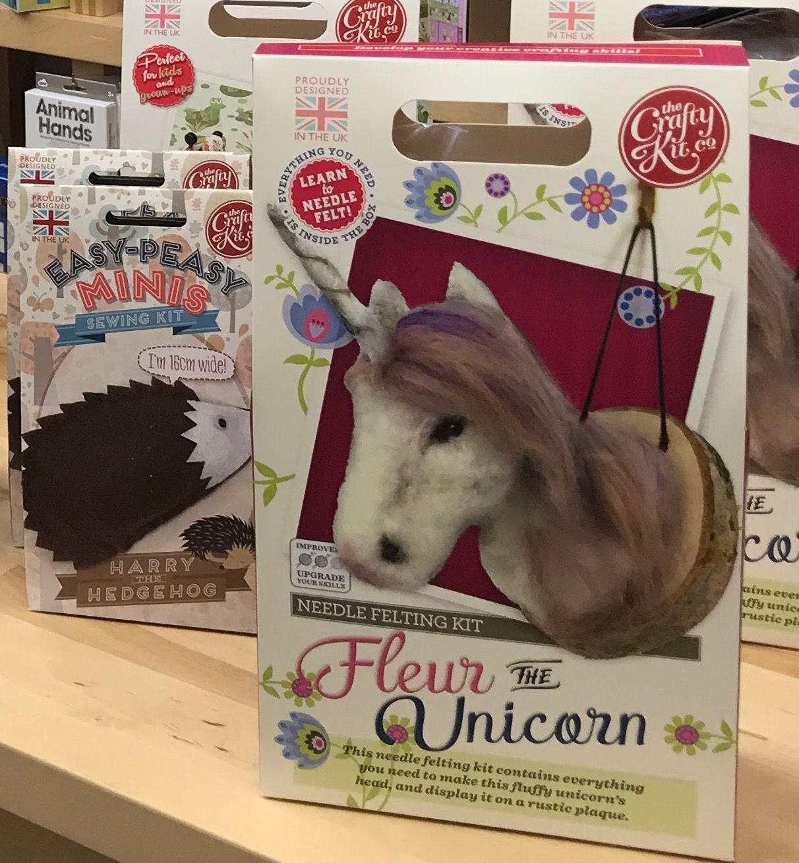 Crafty kits - learn to crochet, knit, needlefelt or sew!
