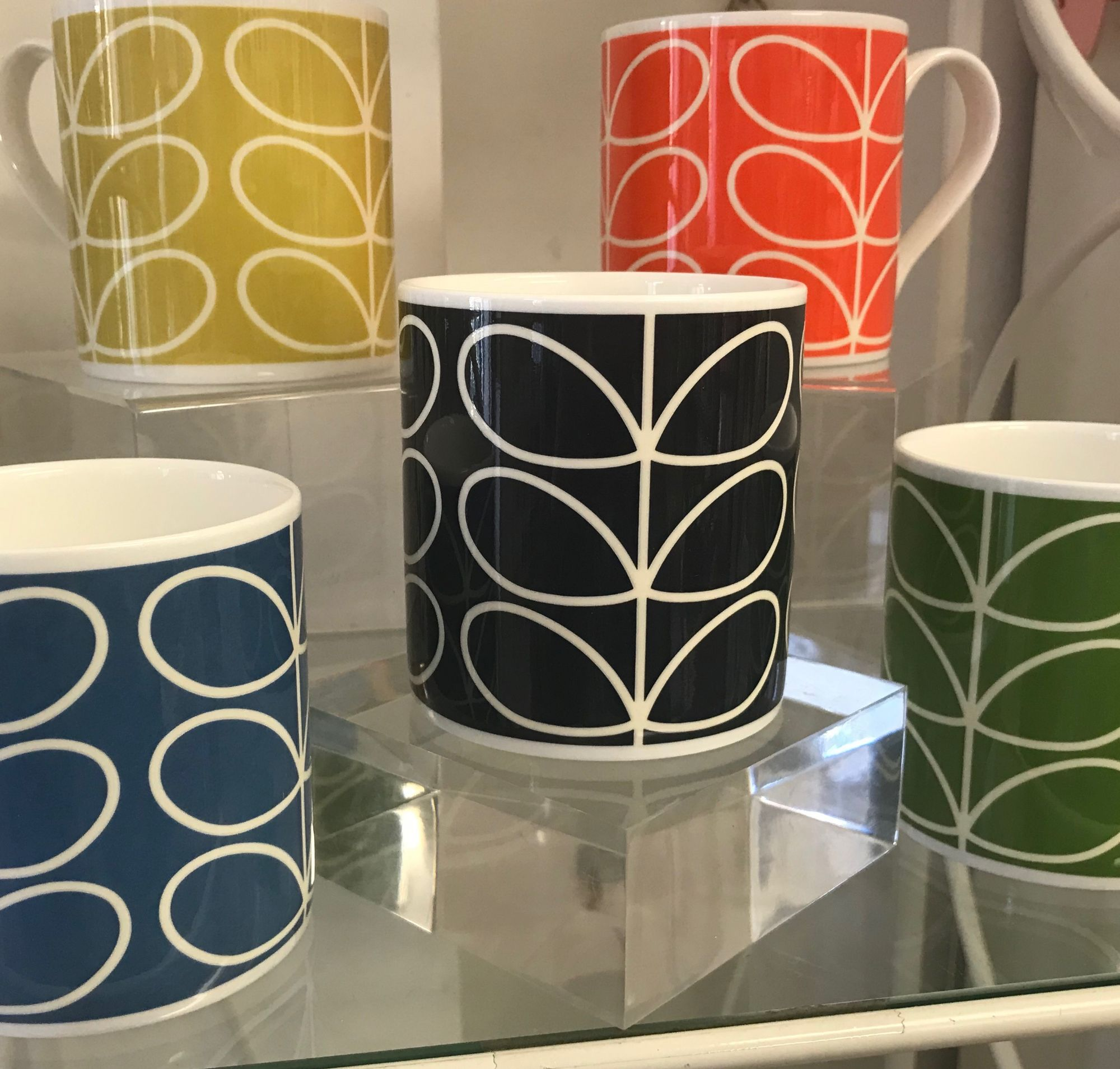 McLaggan Smith's Orla Kiely mugs