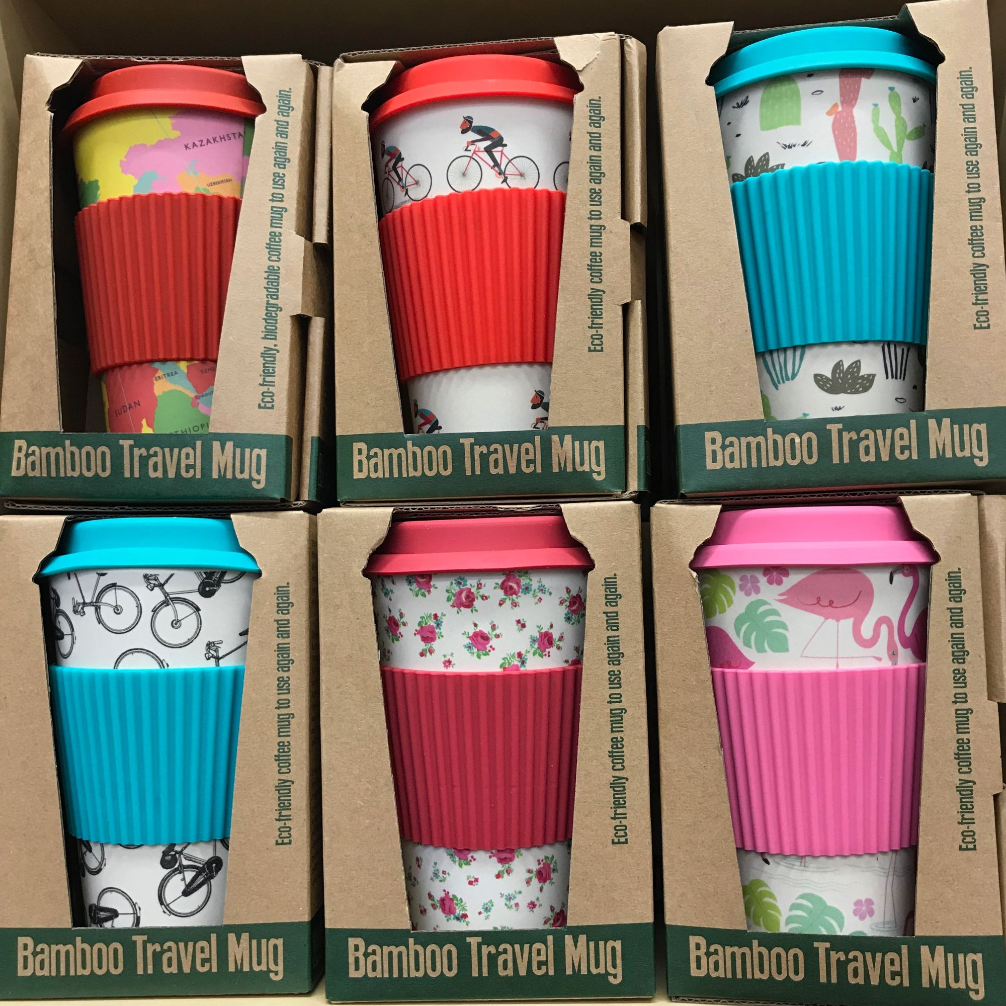 Rex London have many ranges of bamboo eco cups lunch boxes, bags and flasks