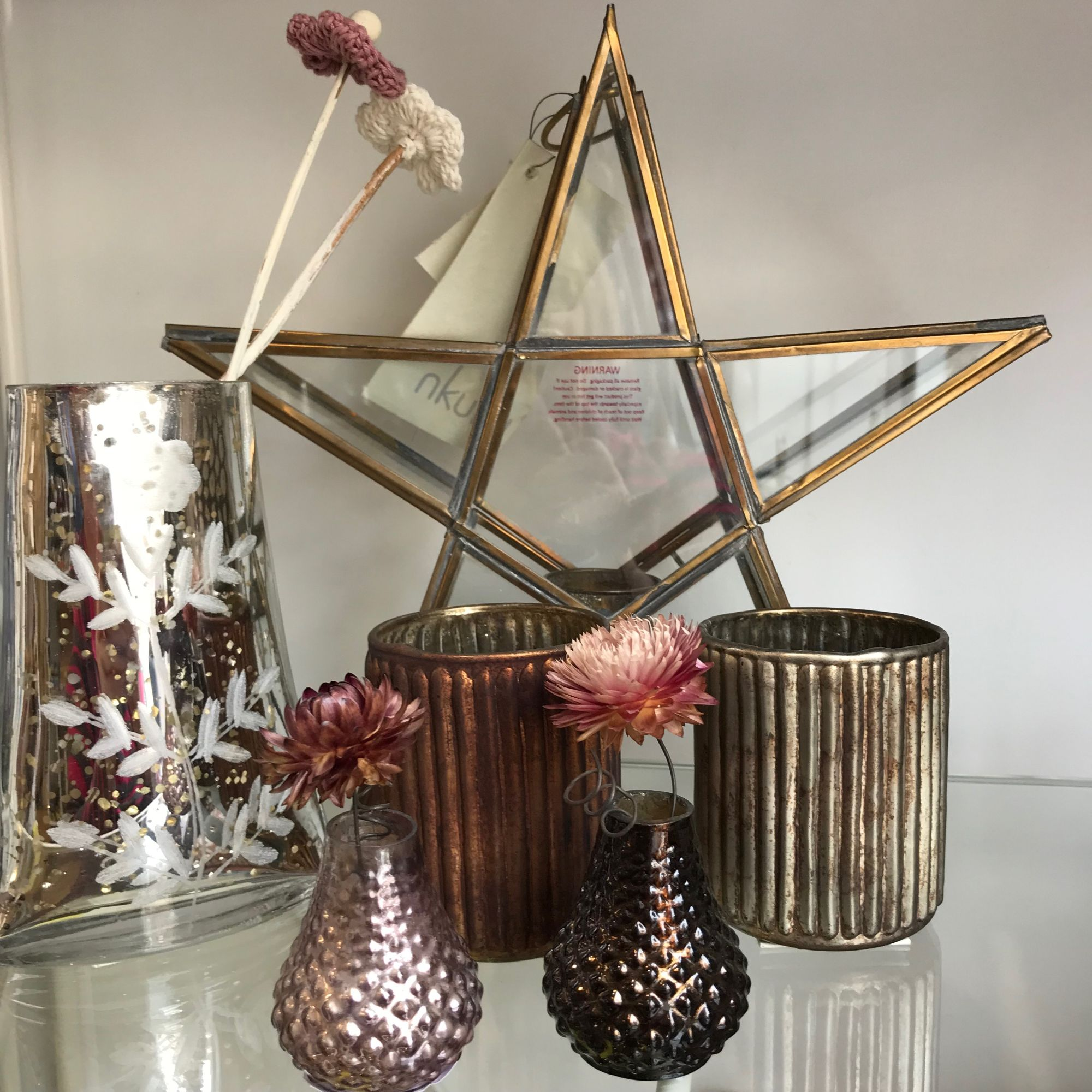 Beautiful Nkuku glass vases, stars and more