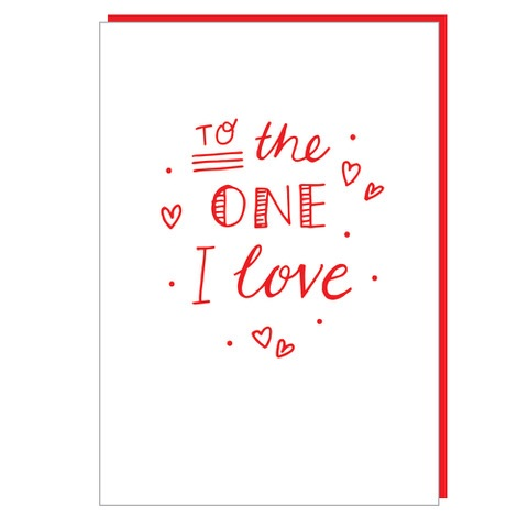 To the one I love...