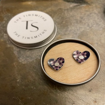 The Tinsmiths heart studs