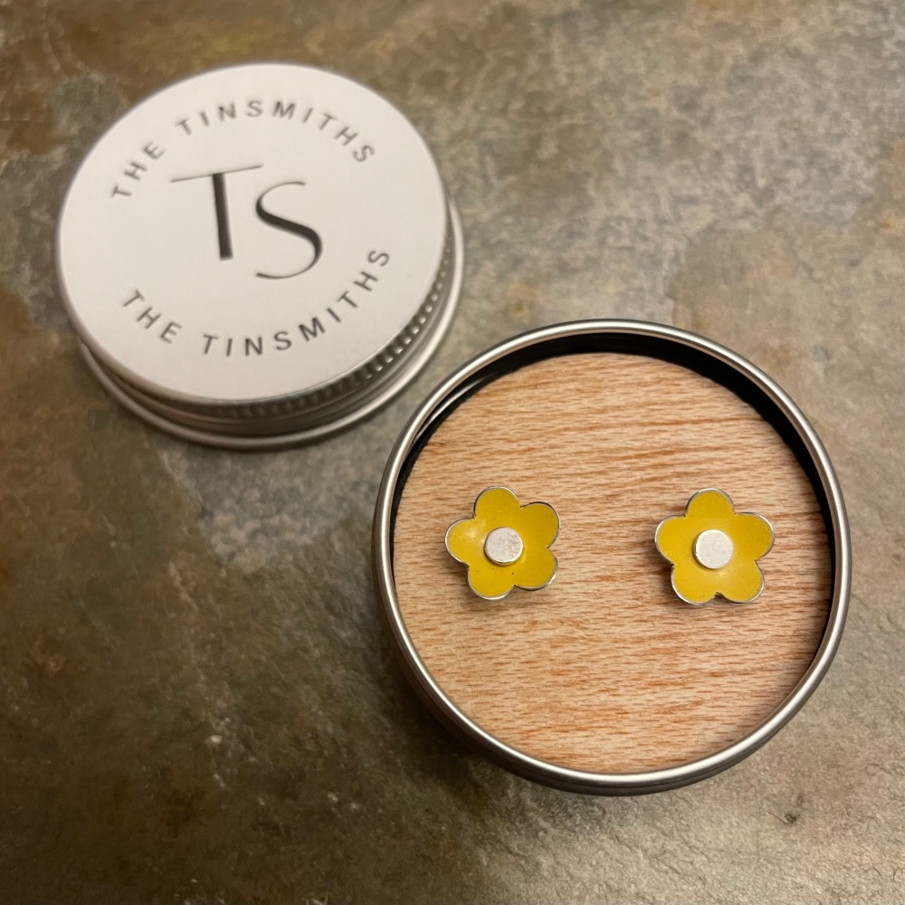 The Tinsmiths flower studs