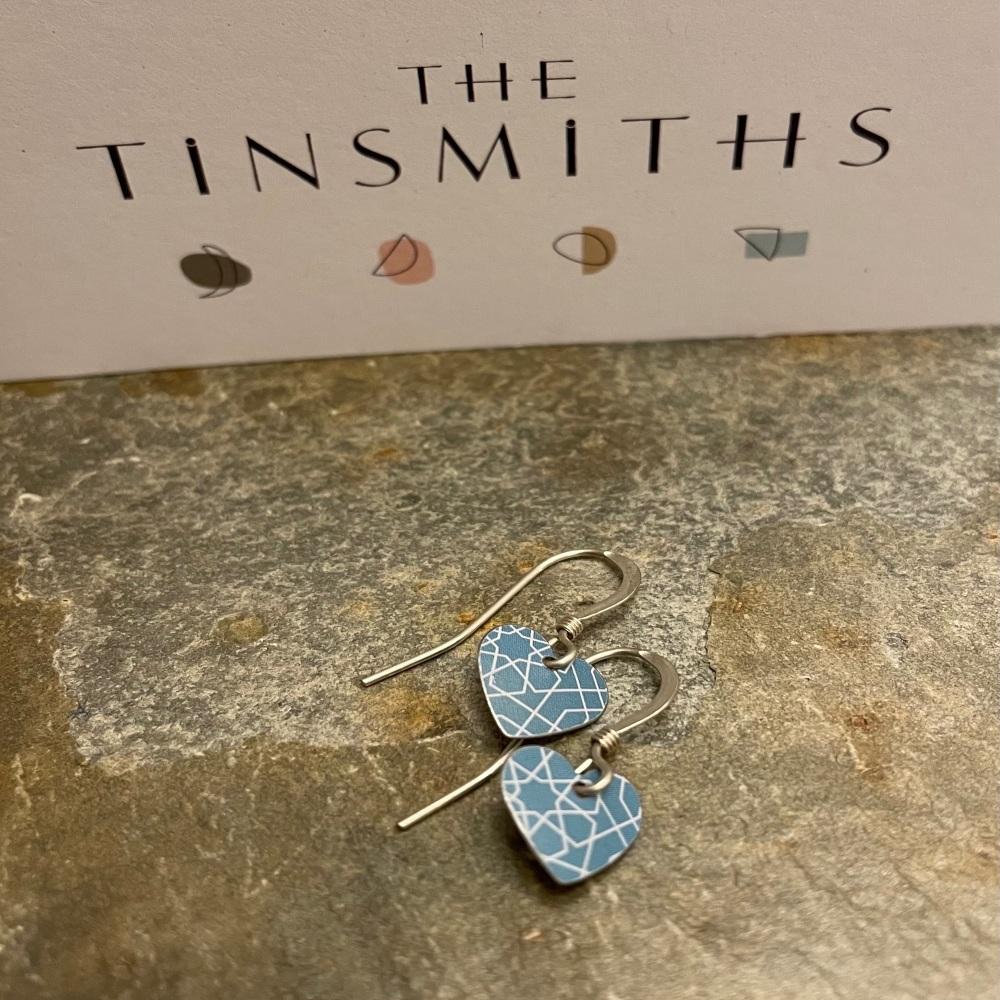 The Tinsmiths heart earrings