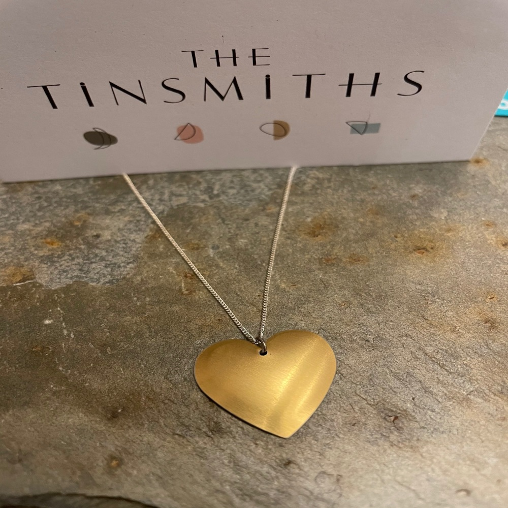 The Tinsmiths small round heart necklace