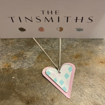 The Tinsmiths large double heart necklace