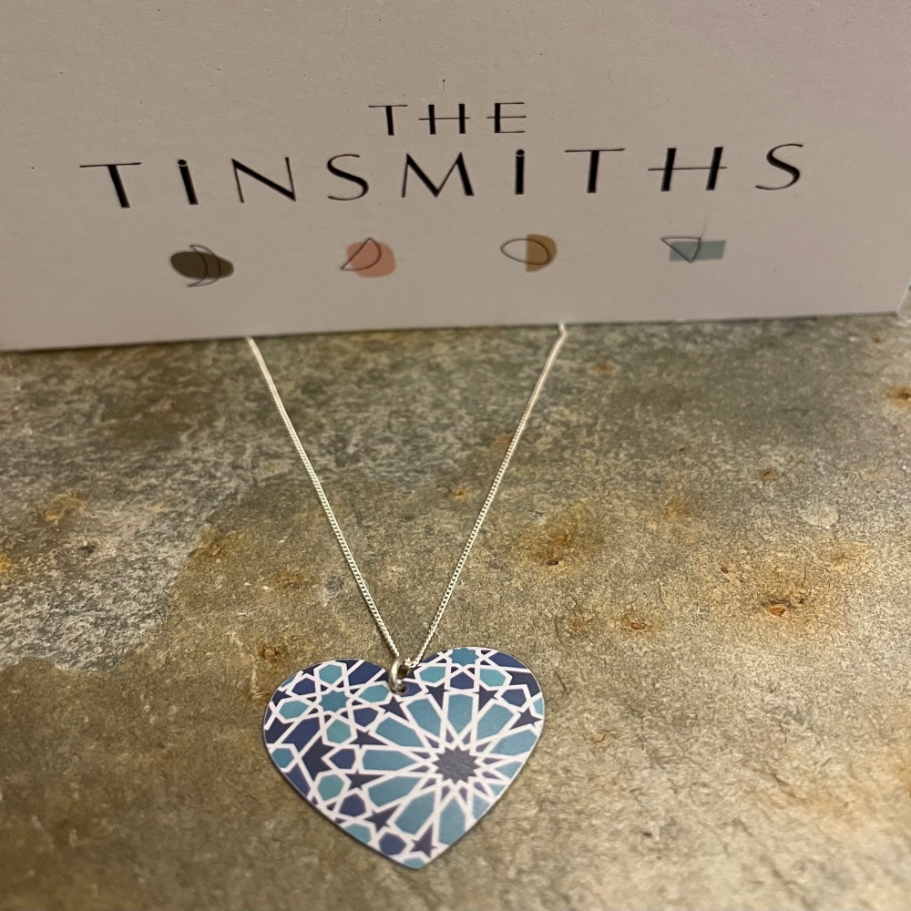 The Tinsmiths round heart necklace