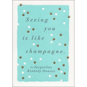Archivist seeing you is like champagne