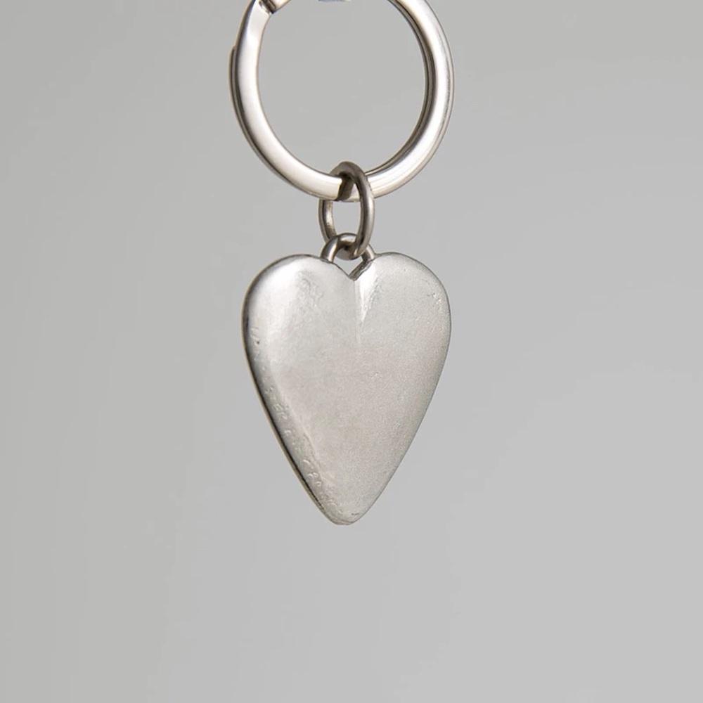 Lancaster & Gibbings Heart shape keyring