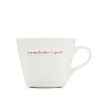 MAKE International Bucket Mug - Overworked/Underpaid