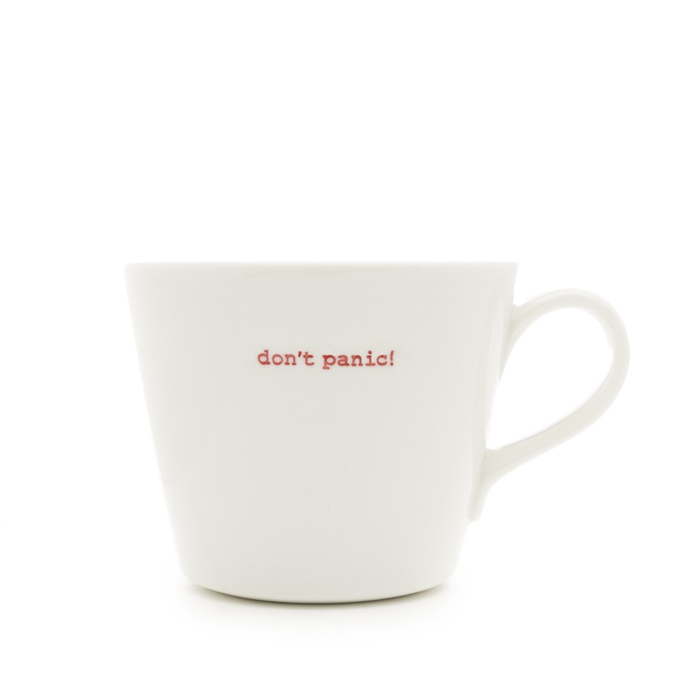 MAKE International Bucket Mug - Don't Panic