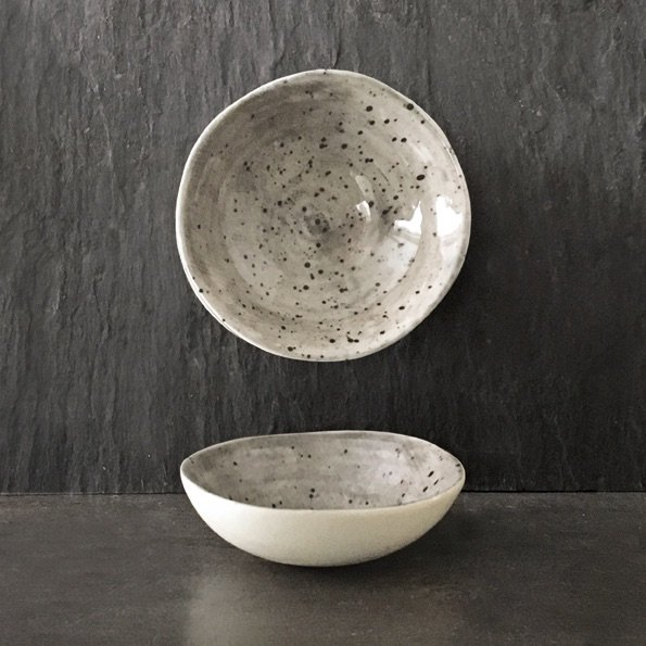 East of India Small Bowl - speckled wash