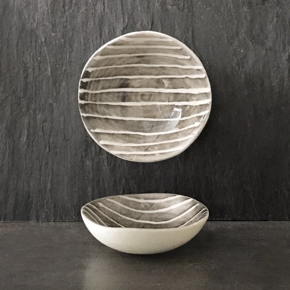 East of India Small bowl - Painted Stripe