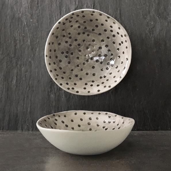 East of India Medium Bowl - Dimpled Spot