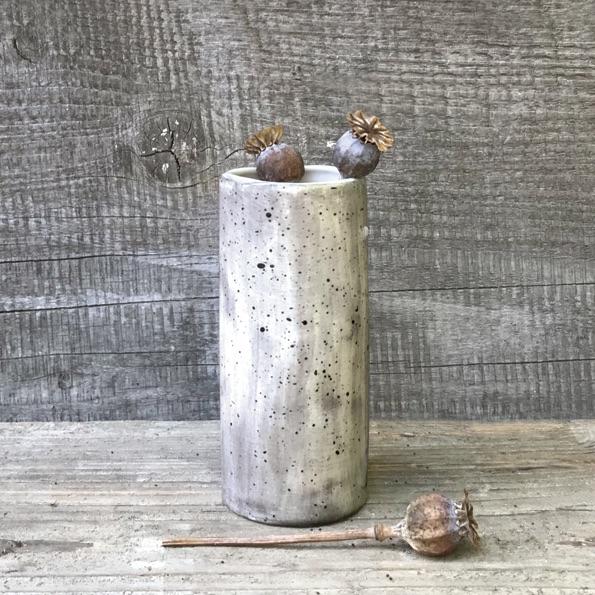 East of India Medium Vase - Speckled Wash