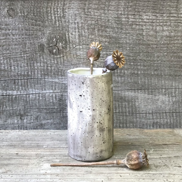 East of India Small Vase - Speckled Wash