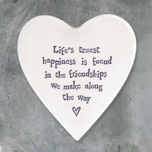East of India Heart Coaster - Life's Truest...