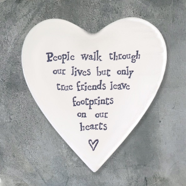 East of India Heart Coaster - People walk...