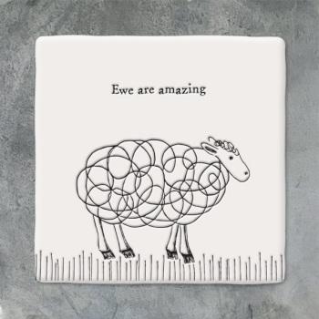 East of India Square coaster - Ewe are amazing