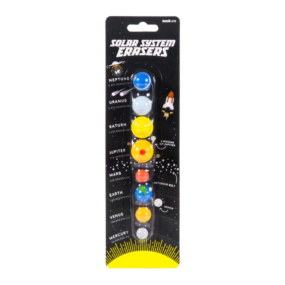 SUCK UK Solar System Erasers
