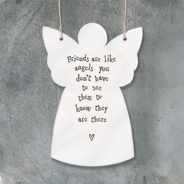 East of India Hanging Angel - Friends are like...