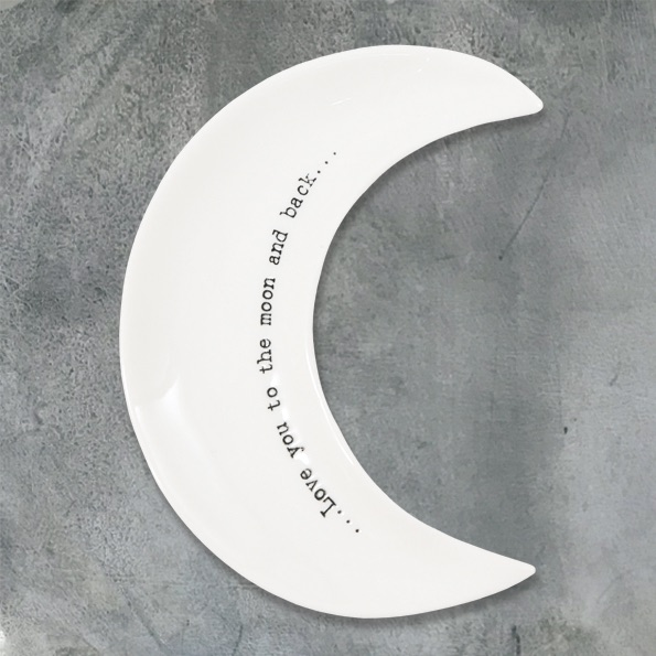 East of India Crescent Dish - Love you to the moon and back