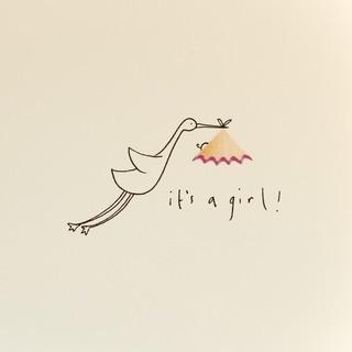 Ruth Jackson - Baby girl stork