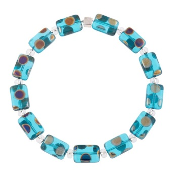 Carrie Elspeth - Dotty rectangles bracelet (blue)