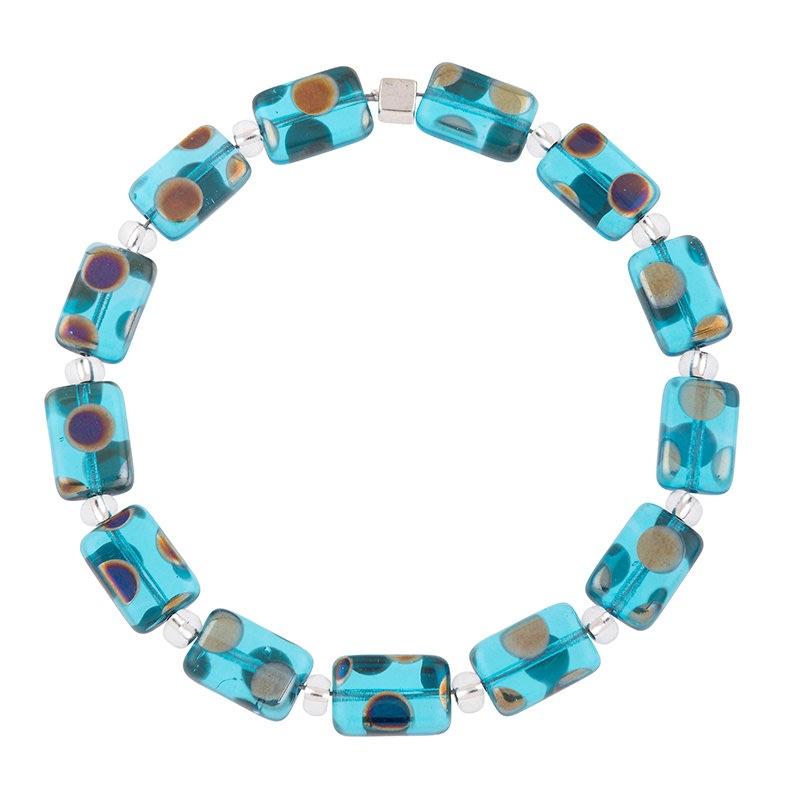 Carrie Elspeth - Dotty rectangles bracelet (blue)