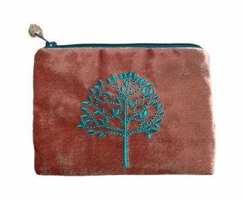 Lua Velvet Coin/Cosmetic Purse - Mulberry Tree