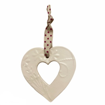 Jamali Annay - Embossed cut out heart