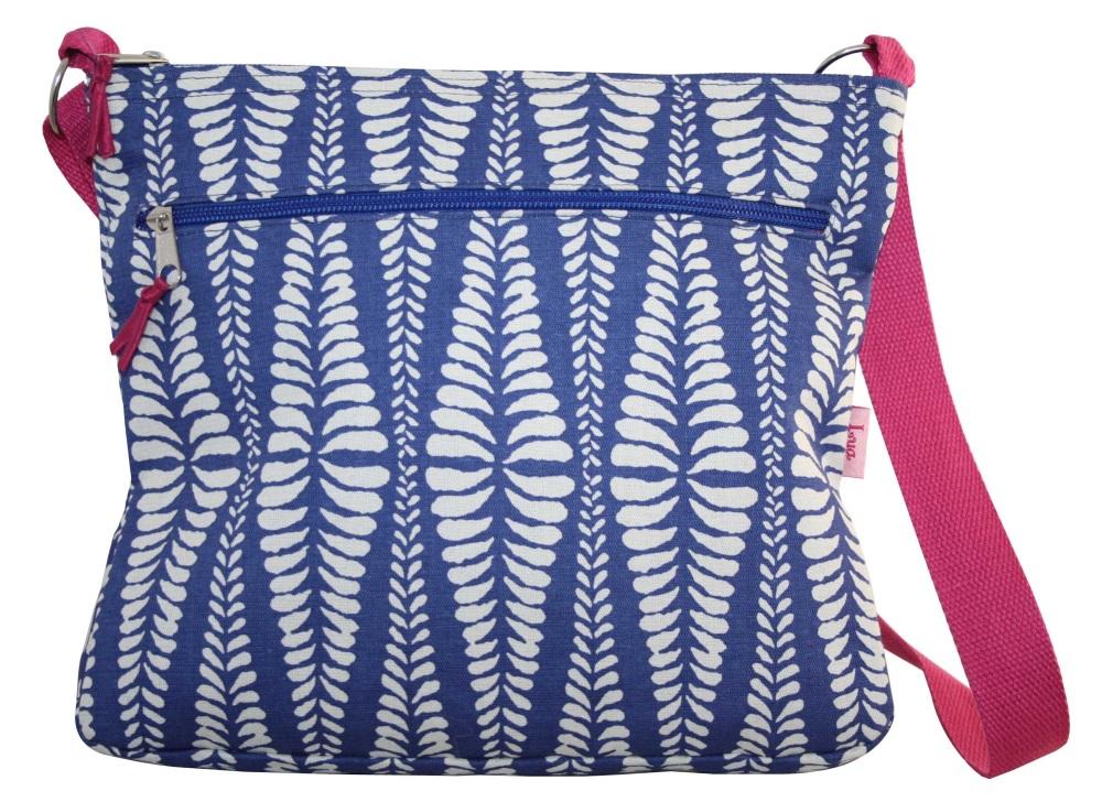 Lua - Blue Fern Messenger Bag
