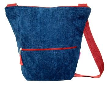 Lua Bucket Bag - Blue Corduroy