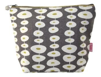 Lua Large Cosmetic Bag - Mink Circles