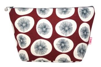 Lua Large Cosmetic Bag - Red Dandelions