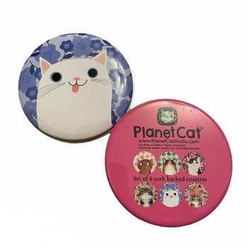 Planet Cat Coasters - set of 6 in presentation tin