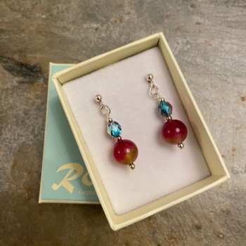 Ronin Earrings- Rosehip