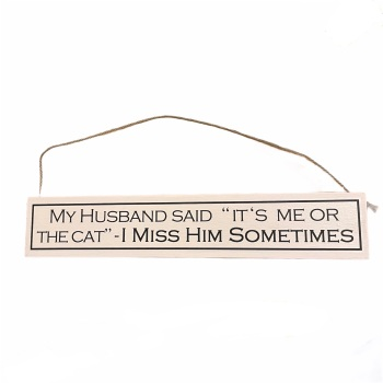 """Wit with Wisdom - My Husband Said """"It's Me or the Cat..."""