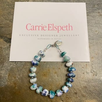 Carrie Elspeth - Glass bead bracelet