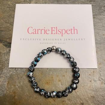 Carrie Elspeth - Blue/Black Marble Shimmer Bracelet