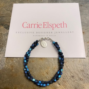 Carrie Elspeth - Blue/Black Twist Bracelet