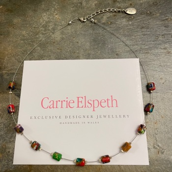 Carrie Elspeth - Multicolour Barrel necklace